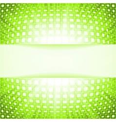 Green techno flare burst squares vector