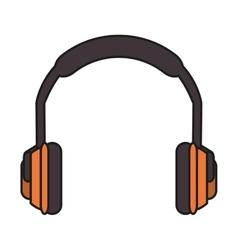 Headphone of industrial security design vector