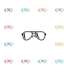 isolated eye accessory icon eye-wear vector image vector image