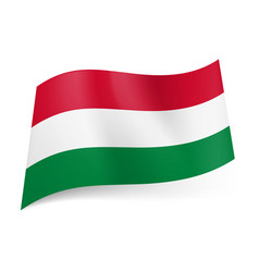National flag of hungary red white and green vector
