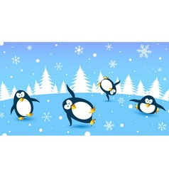 Penguin dance vector