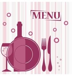Purple background for cafe menu design vector image vector image