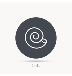 Sea shell icon spiral seashell sign vector