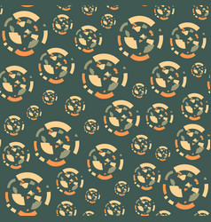 seamless pattern with circles of the fragments vector image vector image