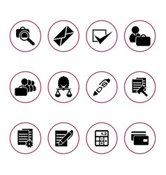 set of icons for the auction vector image vector image