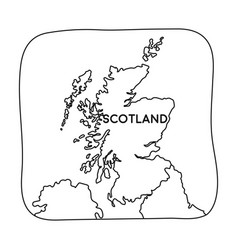 Territory of scotland icon in outline style vector