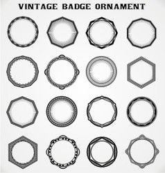 Vintage Badge Ornament vector image vector image
