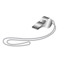Whistle in silver design vector