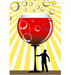 wine and man vector image