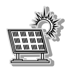 Solar panel energy icon vector