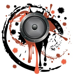 Grunge audio speaker vector