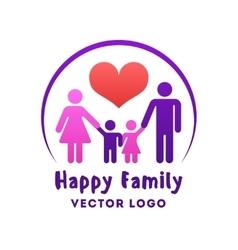 Happy family love logo vector image