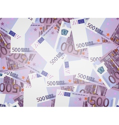 500 euro bills background vector
