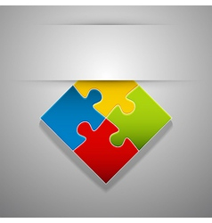 Attach puzzle-sticker vector