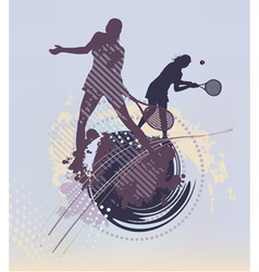 many lines tennis background vector image