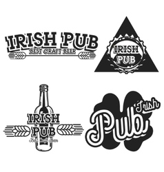 Vintage irish pub emblems vector