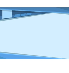 clean blue tamplate vector image