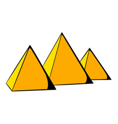 Egyptian pyramids icon cartoon vector