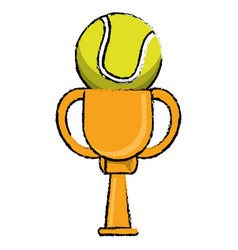 Tennis award cup sport win vector
