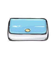 Fashion clutch bag or purse flat theme art style vector