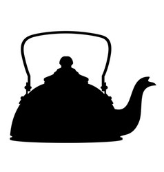 kettle old retro vintage icon stock vector image