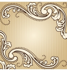 Square vintage sepia background vector