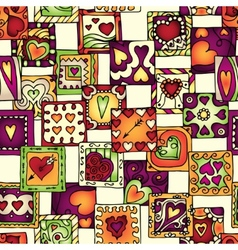 Collection of original drawing doodle hearts vector