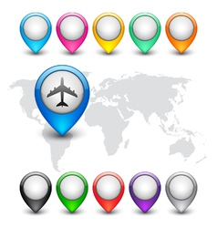 Colorful map markers vector