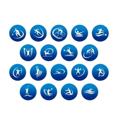 Athletics and team sport icons or symbols vector image
