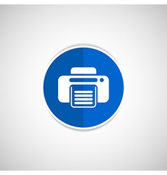 Fax icon design printer document print vector