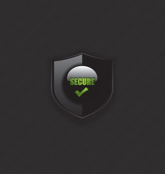 Secure check mark shield icon vector