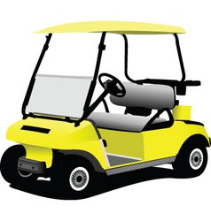Golfer cart vector