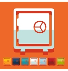 Flat design safe vector
