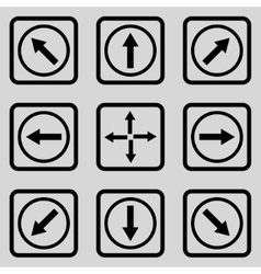 Direction arrows flat squared icon vector