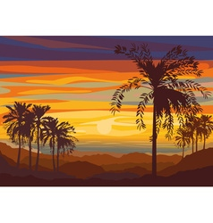 Beautiful summer sunset vector