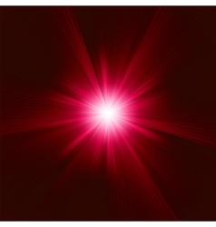 Red Star Burst background vector image