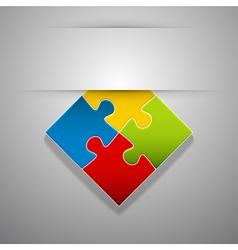 Attach puzzle-sticker vector image