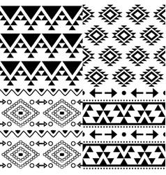 aztec pattern set tribal background vector image vector image