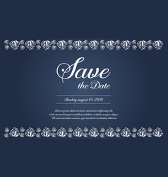 Background for wedding card collection vector