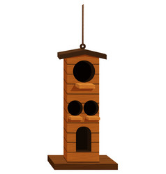 Bird house design for many birds vector