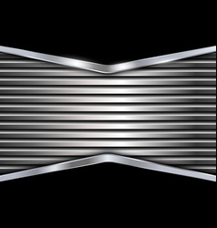 Black and silver metal background vector image