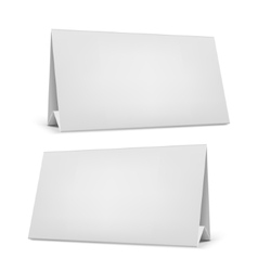 Blank desk calendar with stand vector