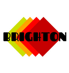 brighton sticker stamp vector image