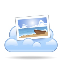 Cloud photo vector