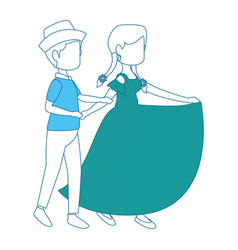 Couple dancing icon vector