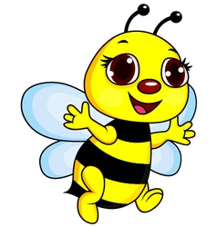 Cute funny bee cartoon vector