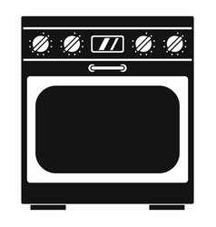 Domestic gas oven icon simple style vector