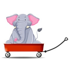 Elephant in the red wagon vector