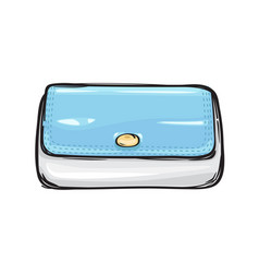 Fashion clutch bag or purse flat theme art style vector