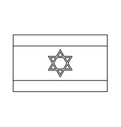 Flag of israel black color icon vector